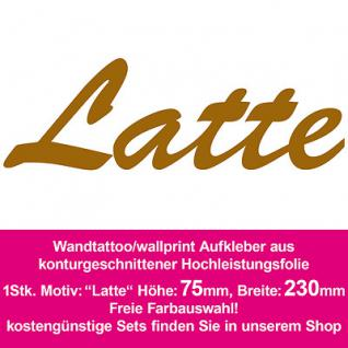 Latte Hotel Bar Restaurant Dekoration Deko selbstklebende Folie Wandtattoo sign