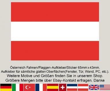 3 Stück Österreich Austria Fahne Flagge Flag WM EM Fußball Aufkleber Sticker