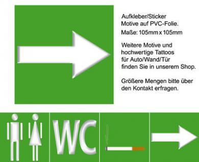 Hinweis Pfeil Richtungspfeil Hinweispfeil links rechts oben unten Aufkleber sign