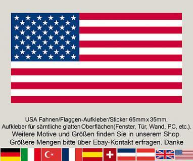 3 USA United States of America Amerika Fahne Flagge WM Fußball Aufkleber Sticker