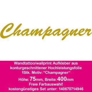 Champagner Hotel Bar Restaurant Dekoration Deko selbstklebende Folie Wandtattoo