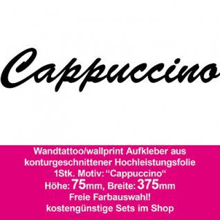 Cappuccino Hotel Bar Restaurant Dekoration Deko selbstklebende Folie Wandtattoo
