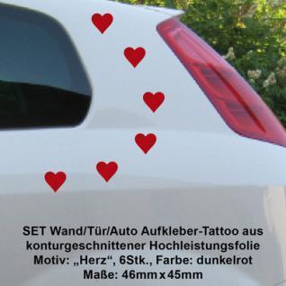 Hochzeitsdeko Autoschmuck Autoaufkleber Hochzeit Herzen Rot Aufkleber Wandtattoo