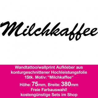 Milchkaffee Hotel Bar Restaurant Dekoration Deko selbstklebende Folie Wandtattoo