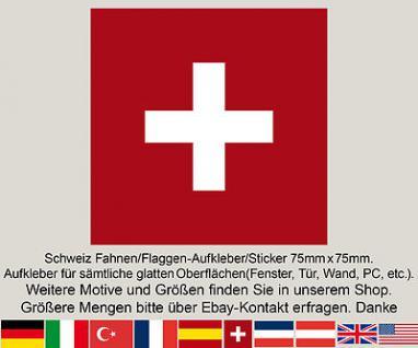3 CH Schweiz swiss suisse schweizer Fahne Flagge WM EM Fußball Aufkleber Sticker