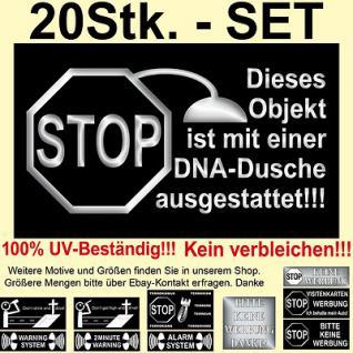 20 Warnaufkleber Aufkleber Warnschild Schild Hinweis konturgeschnitten für Außen