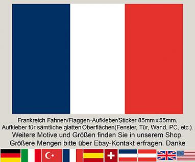 3 Frankreich France Fahne Flagge WM EM Fußball Aufkleber Sticker Frankreichfahne