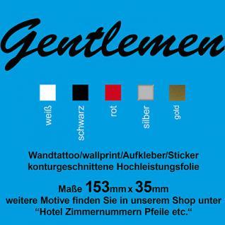 Gentlemen Toilette WC 00 Tür Wand Aufkleber Deko Schild Türaufkleber Wandtattoo