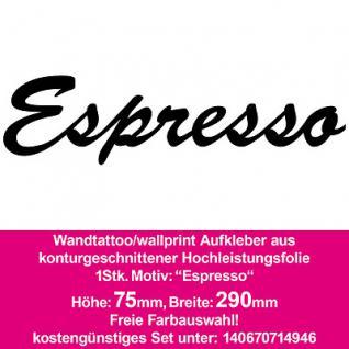 Espresso Hotel Bar Restaurant Dekoration Deko selbstklebende Folie Wandtattoo