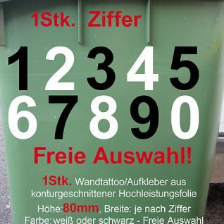 Hausnummer Wunschziffer Zahl Nummer number decal vinyl Aufkleber foil 80mm 8cm