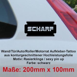 Rasierer Rasierklinge scharf Auto Deko Tuning Folie Autoaufkleber decal wallart