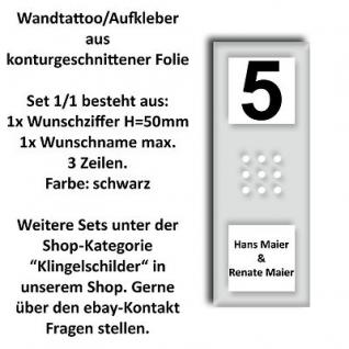 Aufkleber Wandtattoo Türsprechanlage Klingelanlage Hausnummer Siedle SET CA812-1
