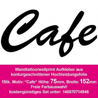 Cafe Kaffee Hotel Bar Restaurant Dekoration Deko selbstklebende Folie Wandtattoo