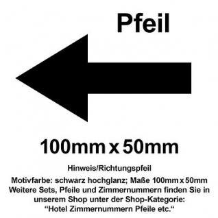 Hinweis Pfeil Richtungspfeil Hinweispfeil links rechts oben unten 10cm Aufkleber