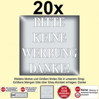 20x STOP bitte keine Werbung Reklame einwerfen Briefkasten Aufkleber Sticker