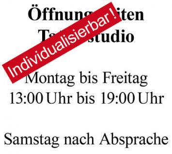 Firmenname Firmenlogo Öffnungszeiten Wunschtext Wunschziffern Aufkleber Sticker