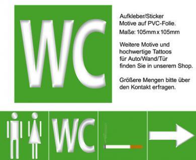 Türhinweis Türaufkleber Bad 00 WC Toilette Hinweis Tür Schild Aufkleber Sticker
