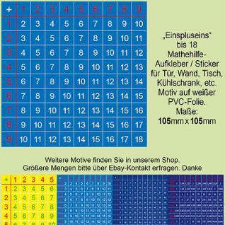 Kinder Schüler Schule Mathematik 1+1-Hilfe Klasse 1 2 3 4 5 Sticker Aufkleber