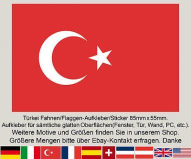 3 Türkye Türkiye Türkei Türkische Fahne Flagge EM WM Fußball Aufkleber Sticker
