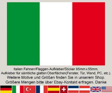 3 Italy Italia Italien Fahne Flagge WM EM Fußball Aufkleber Sticker Italienfahne