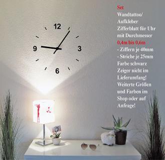 Wandtattoo Deko Bild Wandbild Klebefolie selbstklebende Folie Uhr Zifferblatt