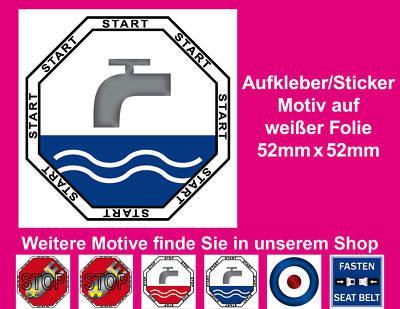 100 Aufkleber Sticker Wasser Spülkasten Spülung Toilette WC Bad 00 Start Taste