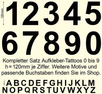10 Stk Auto Wand Schrank Tür Nummer Ziffer Folie Aufkleber Sticker sign 0 bis 9