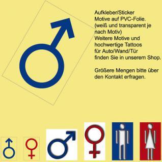 00 WC BAD Toilette Tür Fliesen man Mann Hinweis Zeichen Symbol Aufkleber Sticker