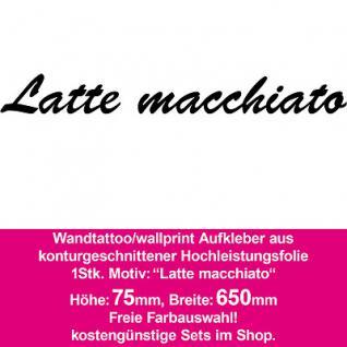 Latte macchiato Hotel Bar Restaurant Dekoration Deko selbstklebende Folie Tattoo