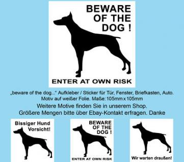 beware of the dog Aufkleber sticker sign decal notice