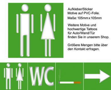 Mann und Frau Bidet Urinal 00 WC Hinweis Zeichen