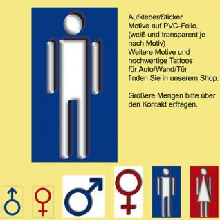 00 WC BAD Toilette Tür Fliesen Zeichen Symbol Aufkleber