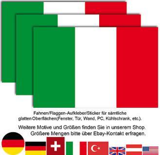 3 italienische italy Italien Nationalflagge Fahne Flagge WM EM Aufkleber Sticker