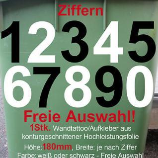 Hausnummer Wunschziffer Zahl Nummer number decal vinyl Aufkleber foil 180mm 18cm