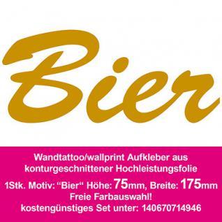 Wandtattoo Aufkleber Sticker wallprint Küche Wand Deko Folie Wandaufkleber Bier