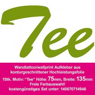 Tee Hotel Bar Restaurant Dekoration Deko selbstklebende Folie Wandtattoo Sticker