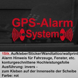 Auto Pkw GPS Alarm Fenster Scheiben Aufkleber Tattoo Sticker Folie für Innen