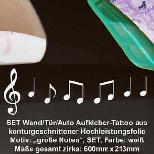 Noten Violinschlüssel Deko Folie geplottet vinyl decal Wandtattoo Aufkleber sign