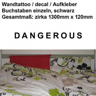 Depeche Mode Wandtattoo Aufkleber Deko Folie vinyl decal Schriftzug DANGEROUS