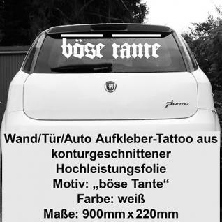 Böse Tante Autoaufkleber Heckaufkleber vinyl decal Auto Heck Deko Aufkleber