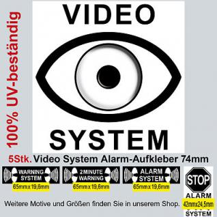 """5 cctv camera video system warning security stickers signs PVC UV resistant 3"""""""