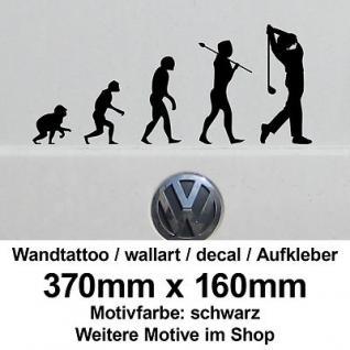 Golf Golfer Golfspieler Evolution Wandtattoo wallart vinyl decal Autoaufkleber