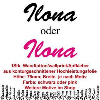 Ilona Kindername Namensschild Auto Wand Schriftzug Aufkleber Tattoo Wandtattoo