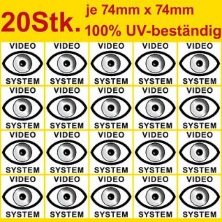"""20 cctv camera video system warning security stickers signs PVC UV resistant 3"""""""