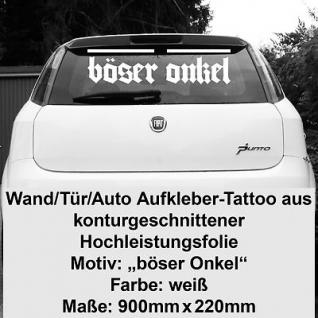 Böser Onkel Autoaufkleber Heckaufkleber vinyl decal Auto Heck Deko Aufkleber