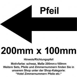 Hinweis Pfeil Richtungspfeil Hinweispfeil links rechts oben unten 20cm Aufkleber