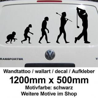 Golf Golfer Golfspieler Golfsport Evolution Wandtattoo Aufkleber Sticker Deko