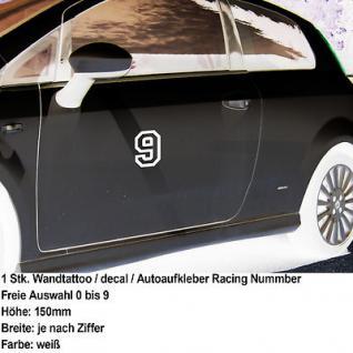 Auto Tuning Aufkleber decal Startnummer racing number Zahl Ziffer Nummer 15cm