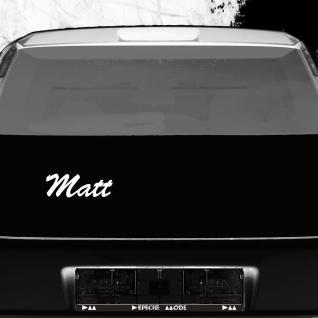 Matt 21cm weiß Name Auto Fenster Tür Heck Aufkleber Tattoo die cut Deko Folie