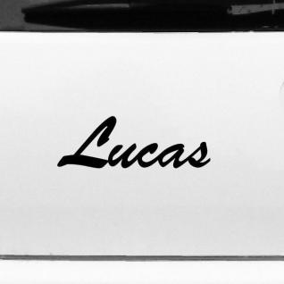 Lucas 22cm Kinderzimmer Name Aufkleber Tattoo Deko Folie Auto Fenster Schrank